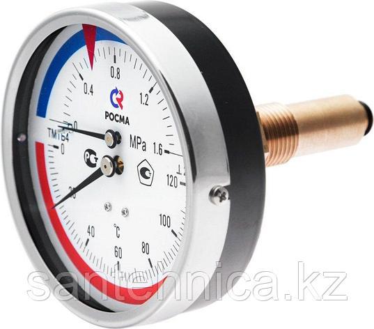 """Термоманометр ТМТБ-3 осевой Дк 80 1,0МПа L=46 мм G1/2"""" T=120°C, фото 2"""