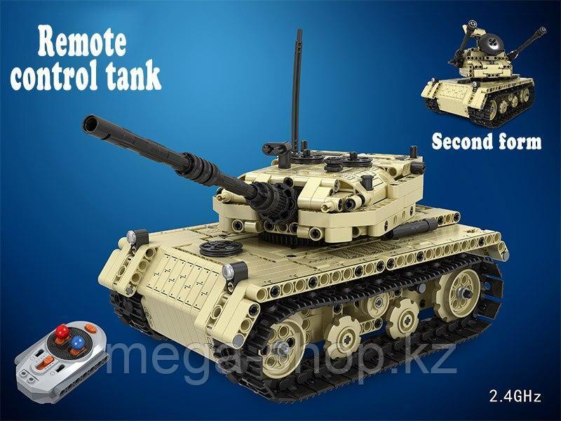 Радиоуправляемый гусеничный танк конструктор 2 в 1