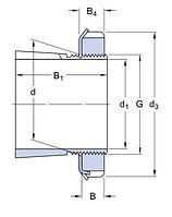 H 211   закрепительная втулка SKF