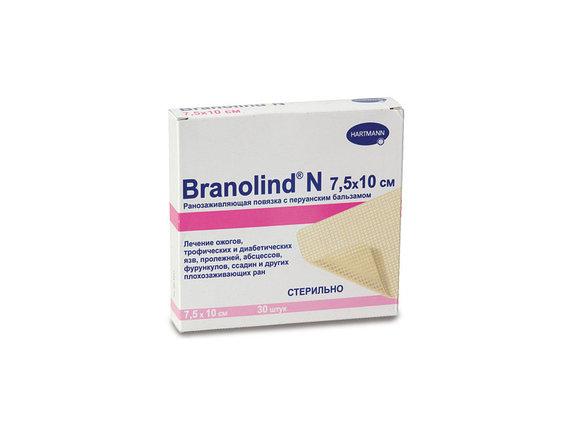 Повязки с перуанским бальзамом (стерильные) BRANOLIND N: 7,5 х 10 см, фото 2