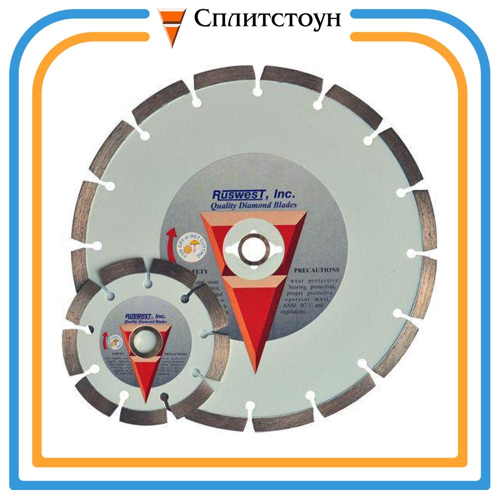 Отрезной алмазный круг сегментный по бетону-350, серия SuperEco