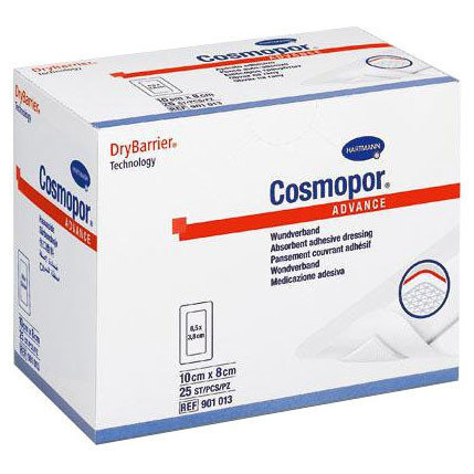 Самоклеящаяся повязки с технологией DryBarrier COSMOPOR Advance 10 х 8 см, фото 2
