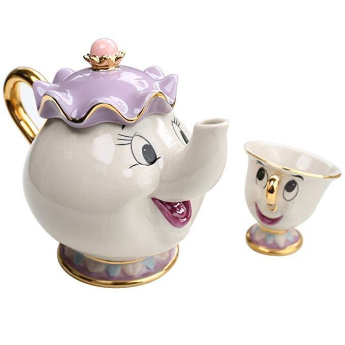 Набор Чайник и кружка (красавица и чудовище)