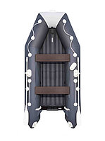 Надувная лодка АКВА 3200 НДНД графит/светло- серый