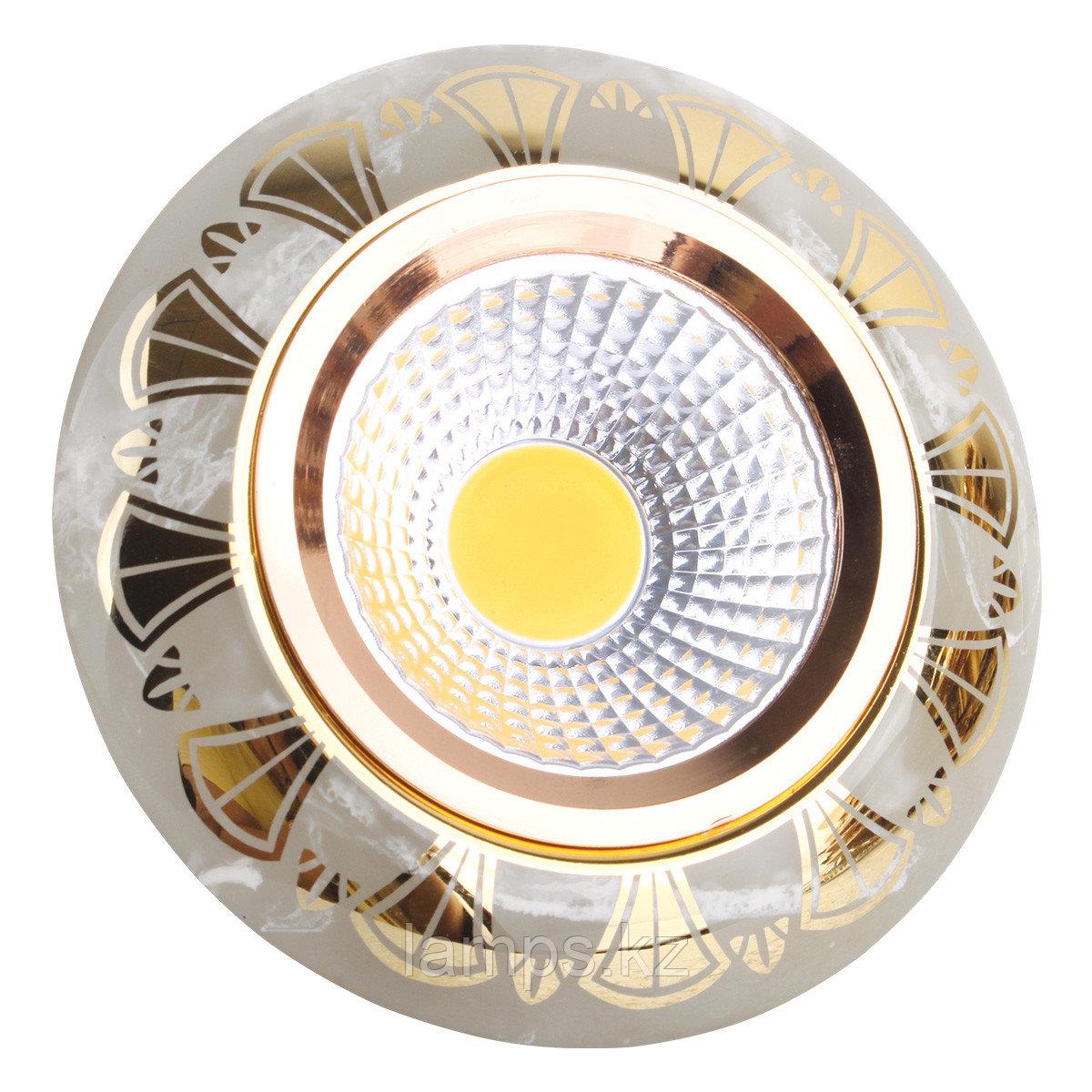 Спот встраиваемый MR16 YS7003 Marble+Gold GU5.3