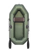 Лодка надувная гребная АКВА-ОПТИМА 210 зеленая