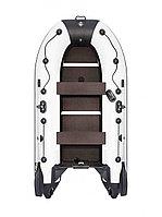 Лодка надувная Ривьера Компакт 2900 СК касатка светло-серый/черный, фото 1