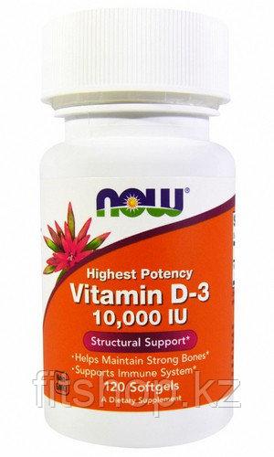 Витамин Д 10 000 МЕ 120 капсул Now Foods