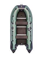 Лодка гребная Ривьера Компакт 3200 СК касатка зеленый/черный, фото 1