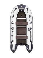Моторно-гребная надувная лодка Ривьера Компакт 3200 СК касатка светло-серый/черный, фото 1