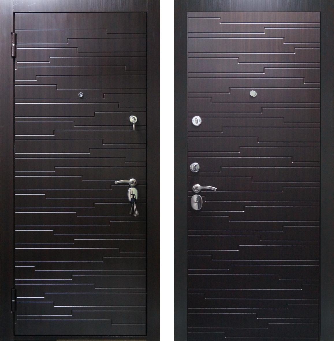 Входная металлическая дверь ДС567 Венге
