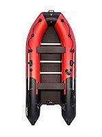 Лодка надувная гребная Ривьера Компакт 3600 СК комби красный/черный, фото 1