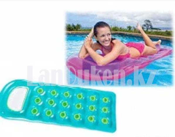 Надувной матрас с подушкой Intex 59895 бирюзовый (+- 1.88 * 77 см) для плавания - фото 2