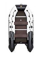 Лодка гребная Ривьера Максима 3800 СК комби светло-серый/черный, фото 1
