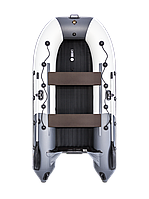 Надувная гребная лодка Ривьера 3200 НДНД Гидролыжа комби светло-серый/графит, фото 1