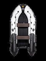 Гребная лодка Ривьера 3600 НДНД Гидролыжа комби светло-серый/графит, фото 1