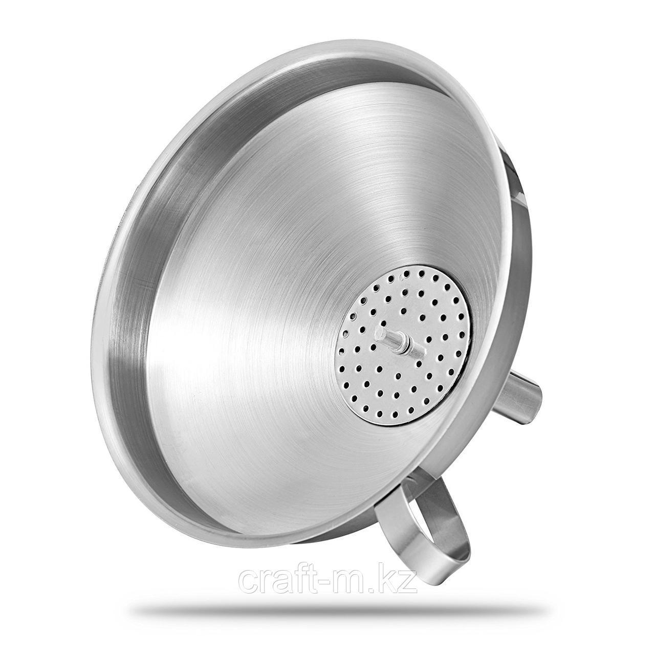 Воронка с фильтром 15 см нержавеющая сталь