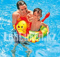 Надувной детский плавательный круг Лев Intex 58221 (71 см * 51 см)