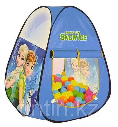 "Детская палатка домик ""Холодное Сердце"" 71х71х88см, фото 2"