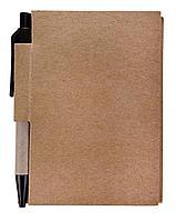 Мини-блокнот Eco Light c ручкой с черными элементами, фото 1