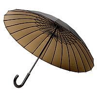 Зонт-трость Ella, черный с бронзовым, фото 1