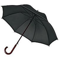 Зонт-трость светоотражающий Unit Reflect, черный, фото 1