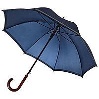 Зонт-трость светоотражающий Unit Reflect, синий, фото 1