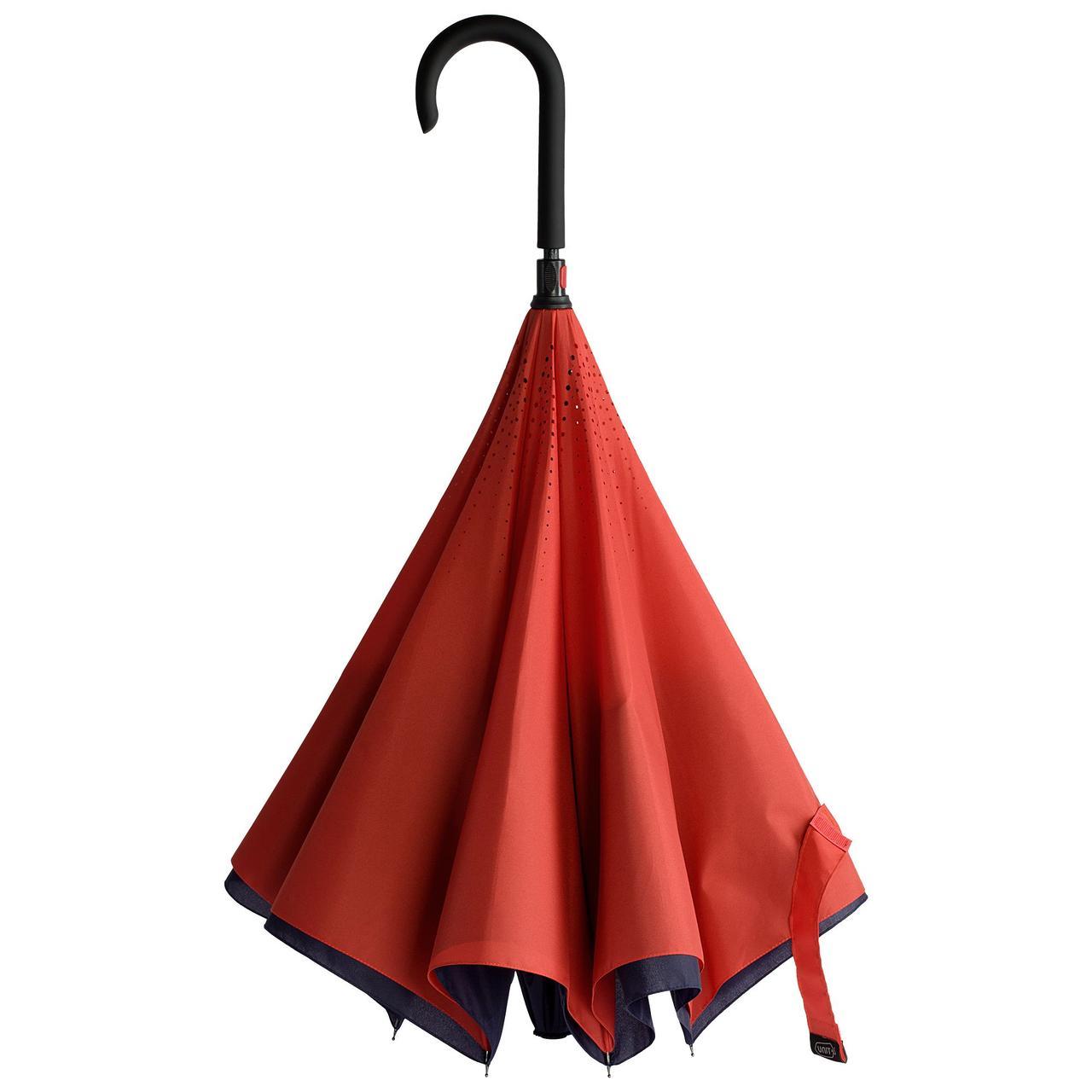 Зонт наоборот Unit Style, трость, сине-красный