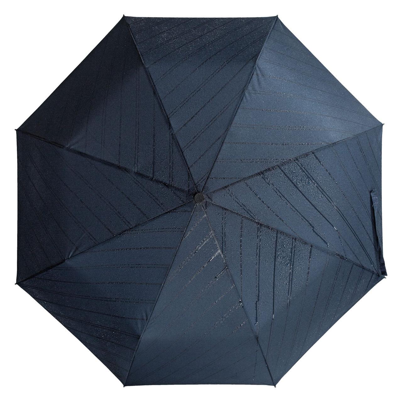 Складной зонт Magic с проявляющимся рисунком, темно-синий