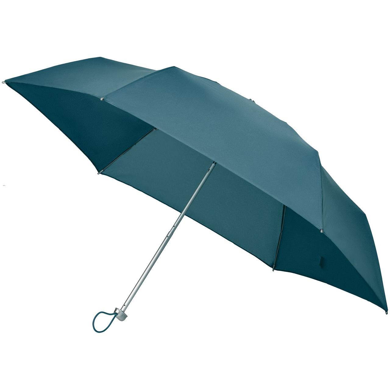 Складной зонт Alu Drop S, 3 сложения, механический, синий (индиго)