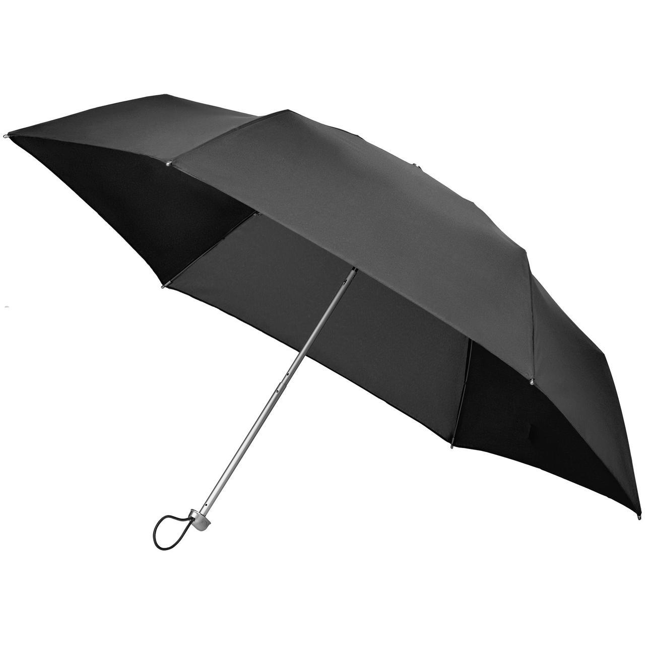 Складной зонт Alu Drop S, 3 сложения, механический, черный