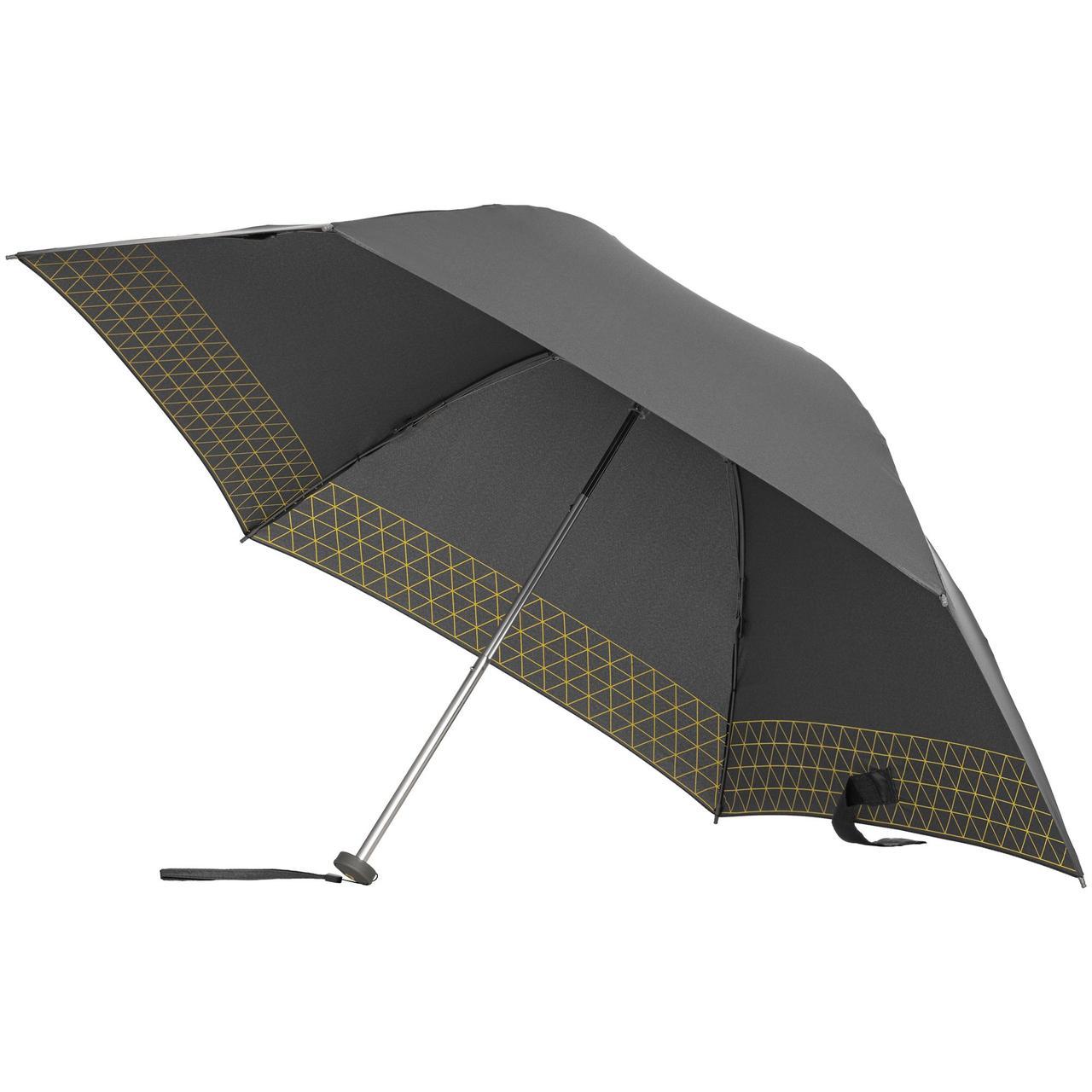 Зонт складной Up Way, механический, серый с желтым