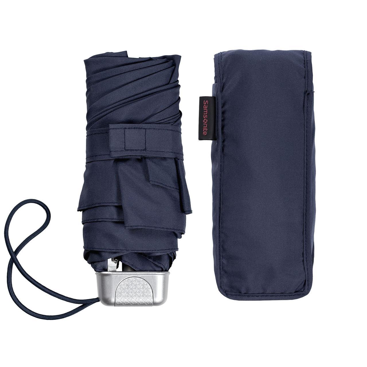 Складной зонт Alu Drop S, 5 сложений, механический, синий