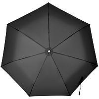 Складной зонт Alu Drop S, 3 сложения, 7 спиц, автомат, черный, фото 1