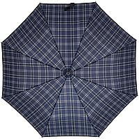 Складной зонт Wood Classic S, синий в клетку, фото 1