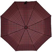 Складной зонт Wood Classic S, красный в клетку, фото 1