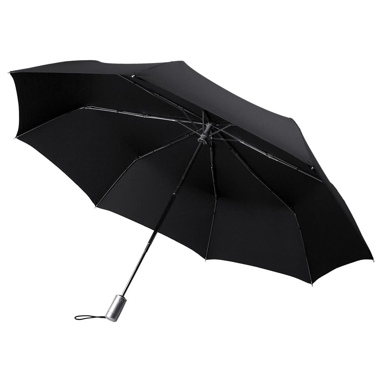 Складной зонт Alu Drop Golf, 3 сложения, автомат, черный