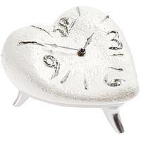 Часы «Сердце», бело-серебристые