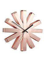 Часы настенные Ribbon, медь, фото 1