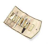 Маникюрный набор SNAKESKIN, золотистый, фото 1