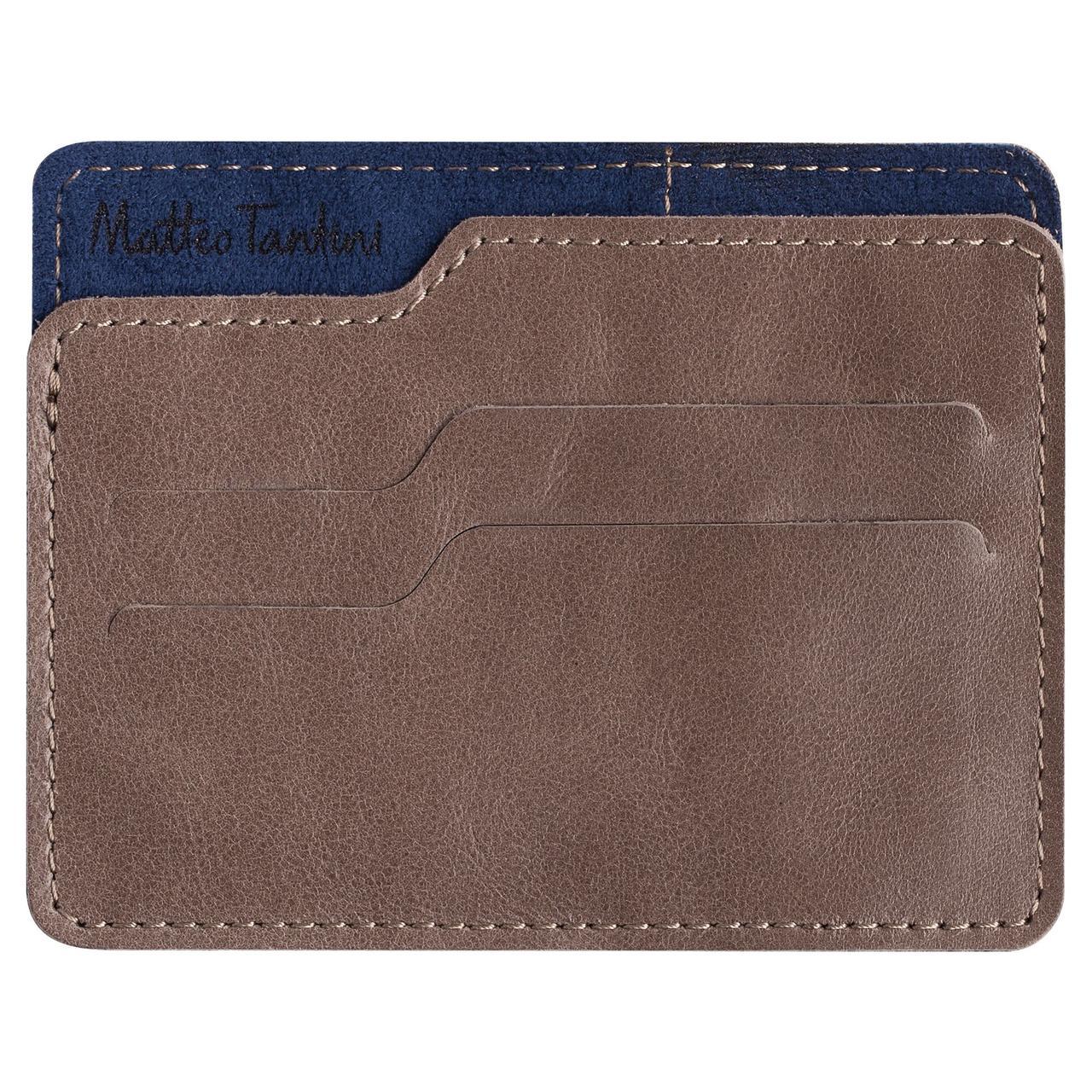 Чехол для карточек Roma, коричнево-синий
