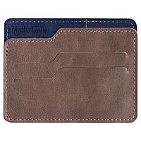 Чехол для карточек Roma, коричнево-синий, фото 1