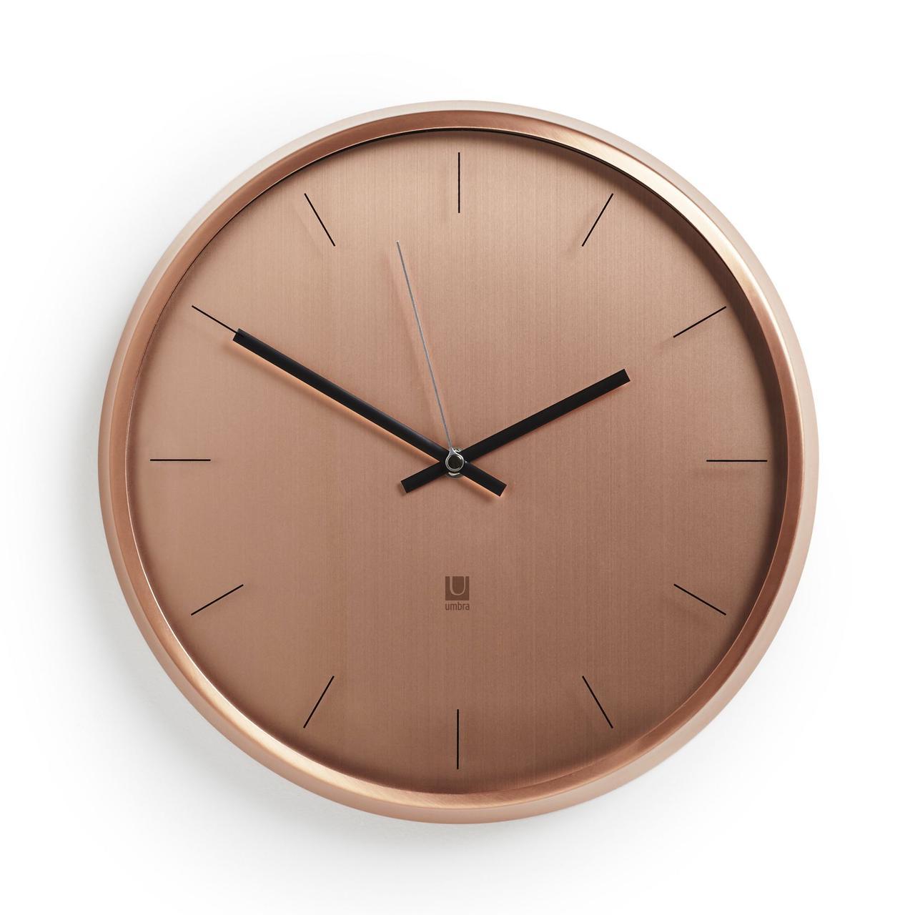 Часы настенные Meta, медь