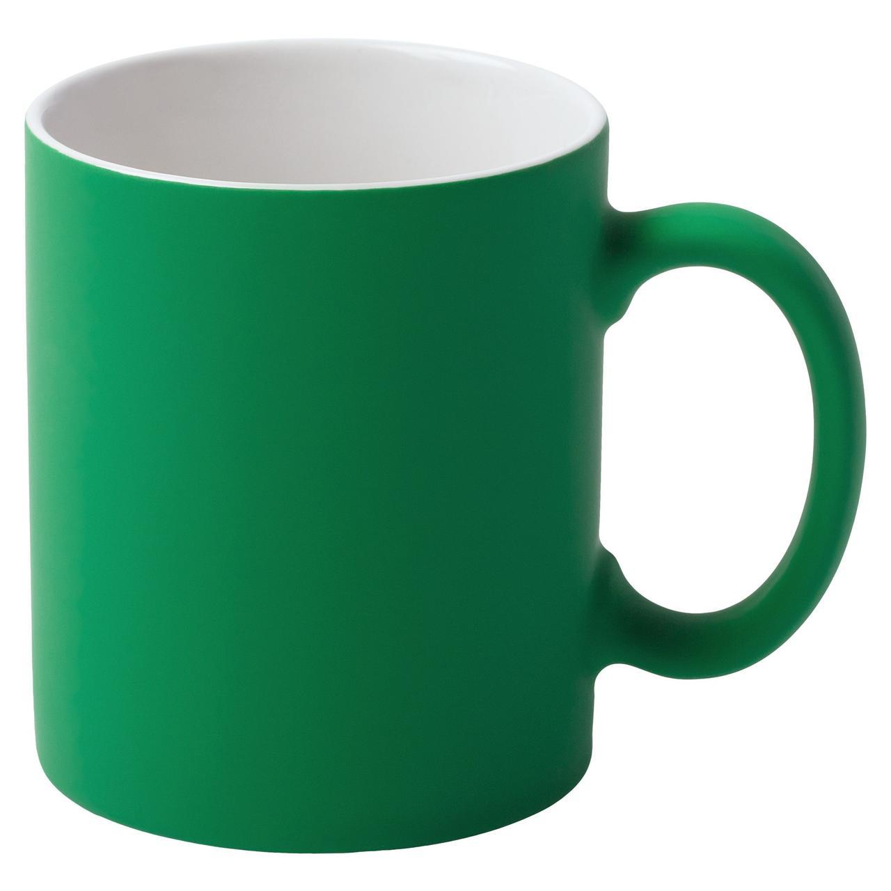 Кружка Promo c покрытием софт-тач, зеленая