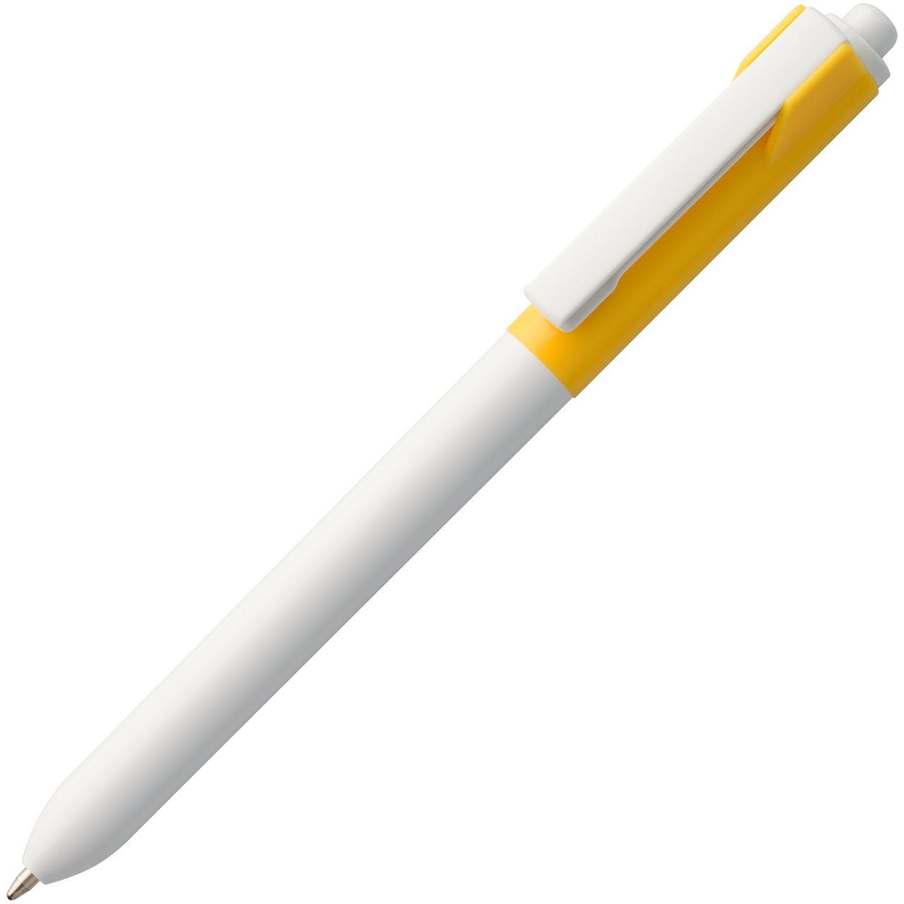 Ручка шариковая Hint Special, белая с желтым