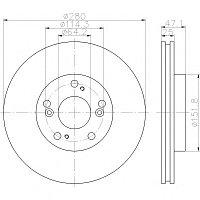Тормозные диски  Honda Accord (03 ->, передние, Optimal, D280)