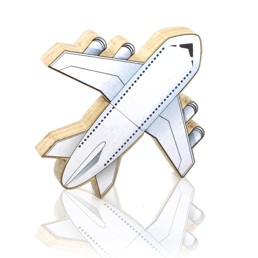 """Флешка """"Самолет 2 """" DR086 (дерево) 8 гб"""