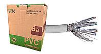 Кабель 6А категории S/FTP для внутренней прокладки 4х парный в оболочке PVC, цвет серый ITK, фото 1