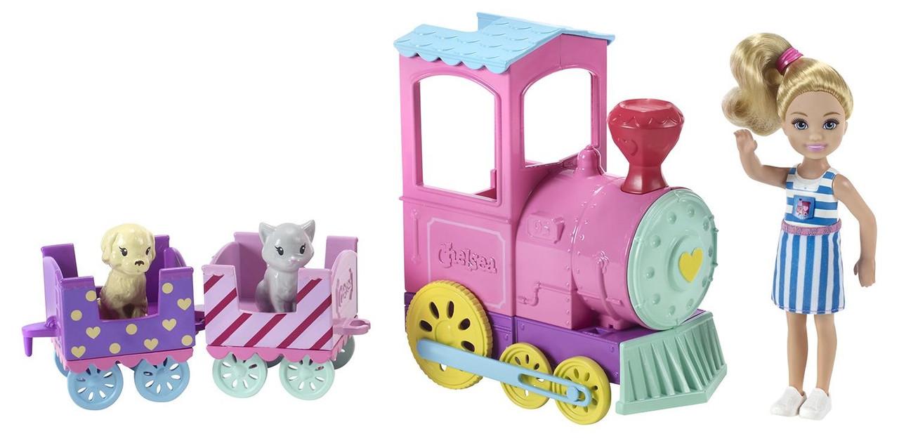 Игровой набор Barbie – Паровозик с куклой Челси