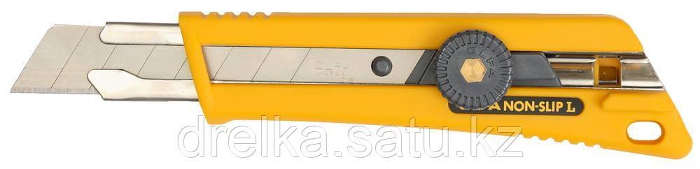 Нож OLFA с выдвижным лезвием, со специльным покрытием, фиксатор, 18мм